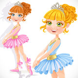 Cute little ballerina girl in tiara Stock Image