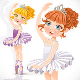Cute little ballerina girl in tiara and tutu Stock Image