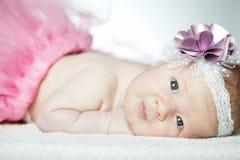 Cute little ballerina portrait. Cute little ballerina baby portrait close up Royalty Free Stock Images