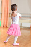 Ballet dancer at training class Stock Images