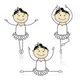 Cute little ballet dancers for your design Stock Image