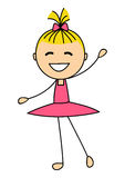 Cute little ballet girl on white Royalty Free Stock Photo