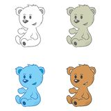 Cute little bears Stock Photo