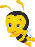 Cute little bee cartoon Royalty Free Stock Photo