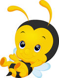 Cute little bee cartoon vector illustration
