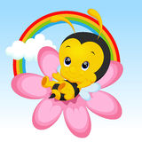 Cute little bee cartoon Royalty Free Stock Images