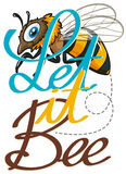 Cute little bee flying. Illustration vector illustration