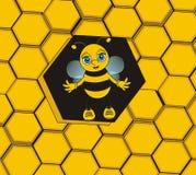 Cute little bee Stock Photo