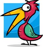 Cute little bird cartoon illustration Stock Photography