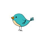 cute little bird icon Stock Photography