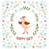 Cute little bird vector illustration Stock Photography