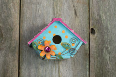 Cute little birdhouse Stock Photos