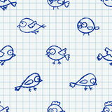Cute little birds pattern Stock Photography