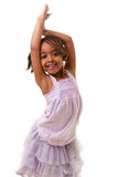 Cute little black girl. Cute african american girl smiling Royalty Free Stock Photo