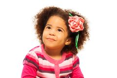 Cute little black girl royalty free stock photography
