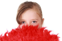 Cute little blond girl Stock Images