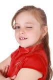 Cute little blond girl Stock Photos