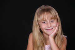 Cute little blond girl Royalty Free Stock Image