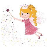 Cute little blonde fairy tale vector illustration Royalty Free Stock Photography