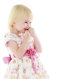 Cute little blonde girl in a beautiful elegant Stock Image