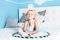 Cute little blonde girl Stock Images