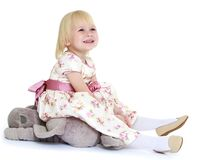 Cute little blonde girl Royalty Free Stock Photography