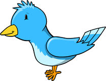 Cute Little Blue Bird Vector Stock Images