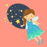 Cute Little Blue Fairy Vector Royalty Free Stock Image