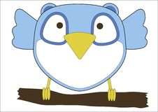 Cute little blue owl Stock Images