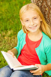 Cute little bookworm. Stock Image
