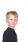 Cute little boy. Toddler boy making funny face Cute blond toddler boy making a funny stock photography