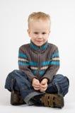 Cute Little Boy. Sitting crosslegged Stock Photography