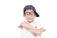 Cute little boy arm folded Royalty Free Stock Photography