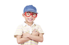Cute little boy arm folded Stock Photo