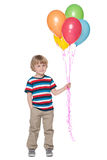 Cute little boy with balloons Stock Photos