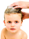 Cute little boy in bathroom Royalty Free Stock Images