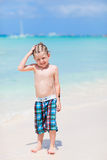 Cute little boy at beach Royalty Free Stock Images
