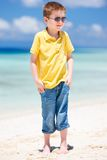Cute little boy at beach Royalty Free Stock Photography