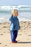 Cute little boy at the beach Royalty Free Stock Photo