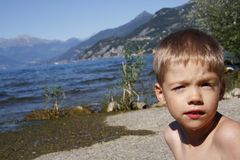Cute little boy at the beach Royalty Free Stock Photography