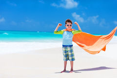 Cute little boy at beach Royalty Free Stock Photo