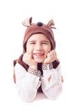 Cute little boy in a bear suit Stock Photography
