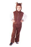 Cute little boy in a bear suit Royalty Free Stock Images