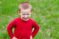 Cute little boy with beautiful smile Stock Images