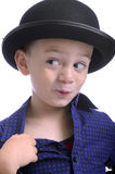 Cute little boy with bowler hat Stock Photography
