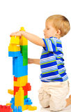 Cute little boy is building a future Stock Images