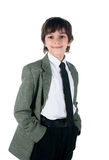 Cute little boy in bussiness style Royalty Free Stock Photography