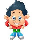Cute little boy cartoon Royalty Free Stock Photography