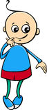 Cute little boy cartoon Royalty Free Stock Images