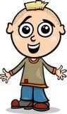 Cute little boy cartoon illustration Stock Image